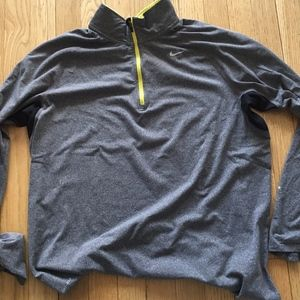 Nike Men's Dry Fit Zip Up Size L Grey
